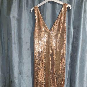 Dresses - Gold sequin dress